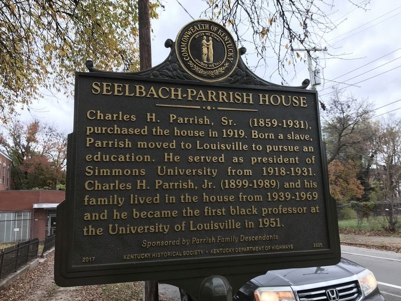 Seelbach-Parrish House Marker (Side B) image. Click for full size.