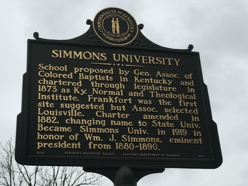 Simmons University Marker (Side A) image. Click for full size.