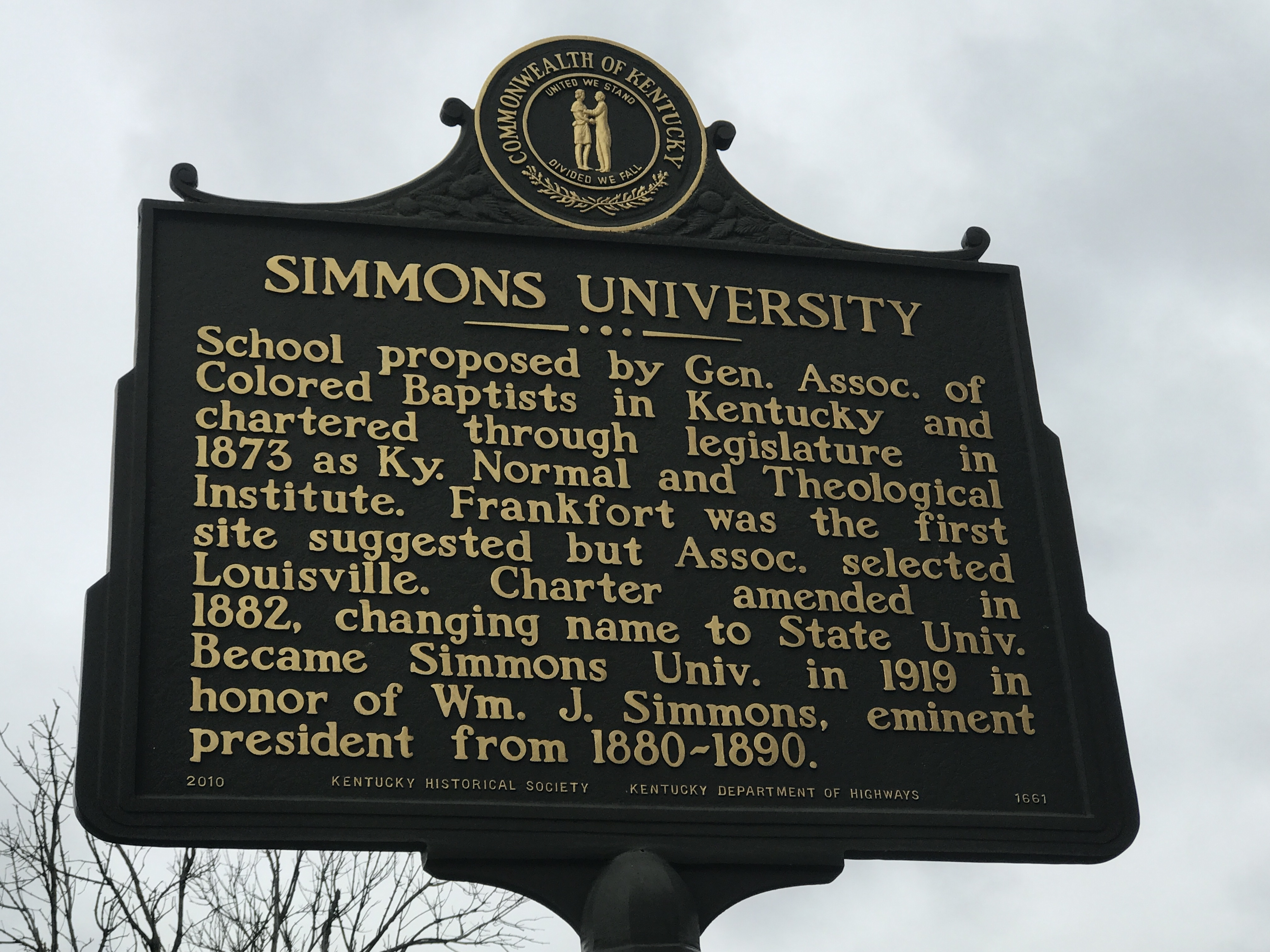 Simmons University Marker (Side A)