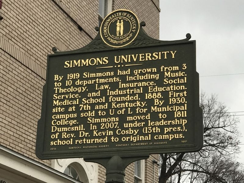 Simmons University Marker (Side B) image. Click for full size.
