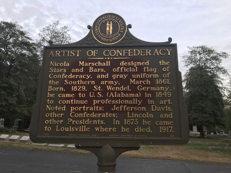 Artist of Confederacy Marker image. Click for full size.