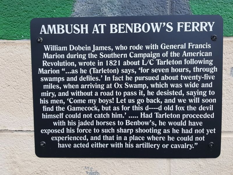 Ambush at Benbow's Ferry Marker image. Click for full size.