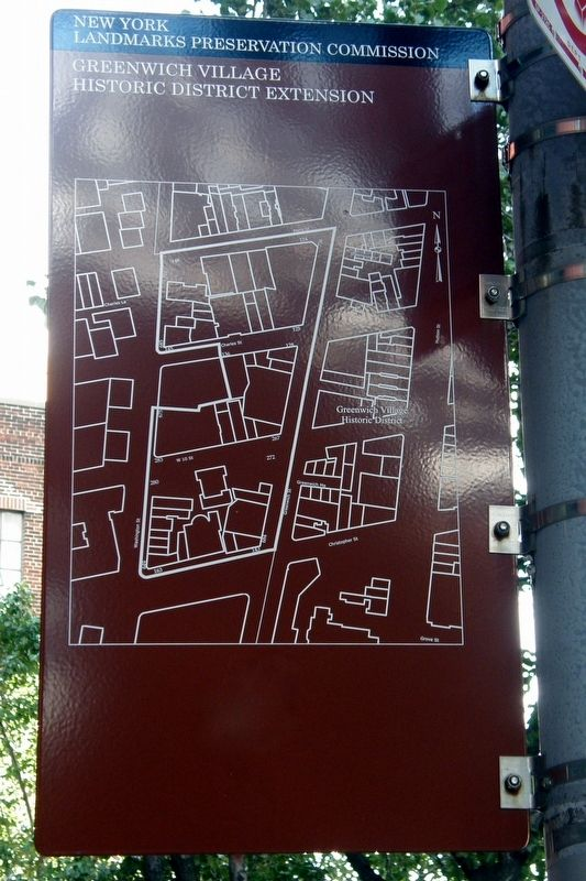 Greenwich Village Historic District Extension Marker image. Click for full size.