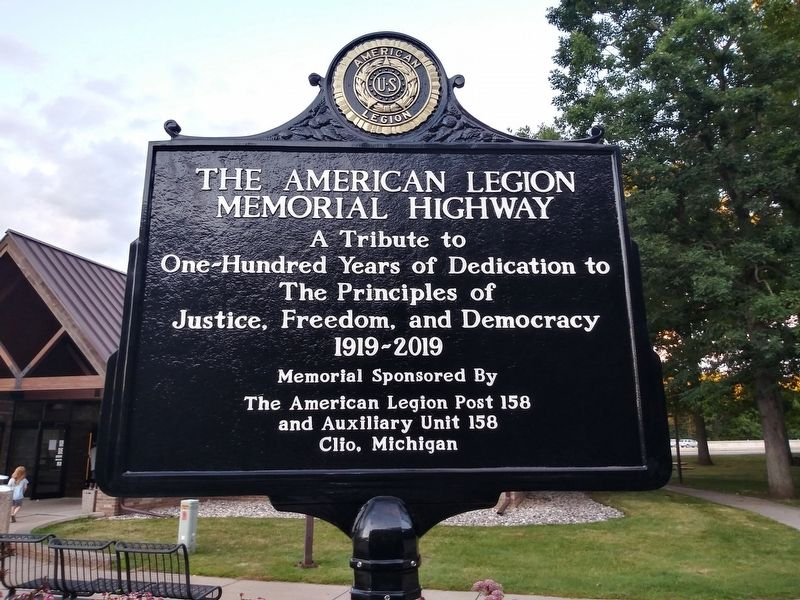 The American Legion Memorial Highway Marker image. Click for full size.