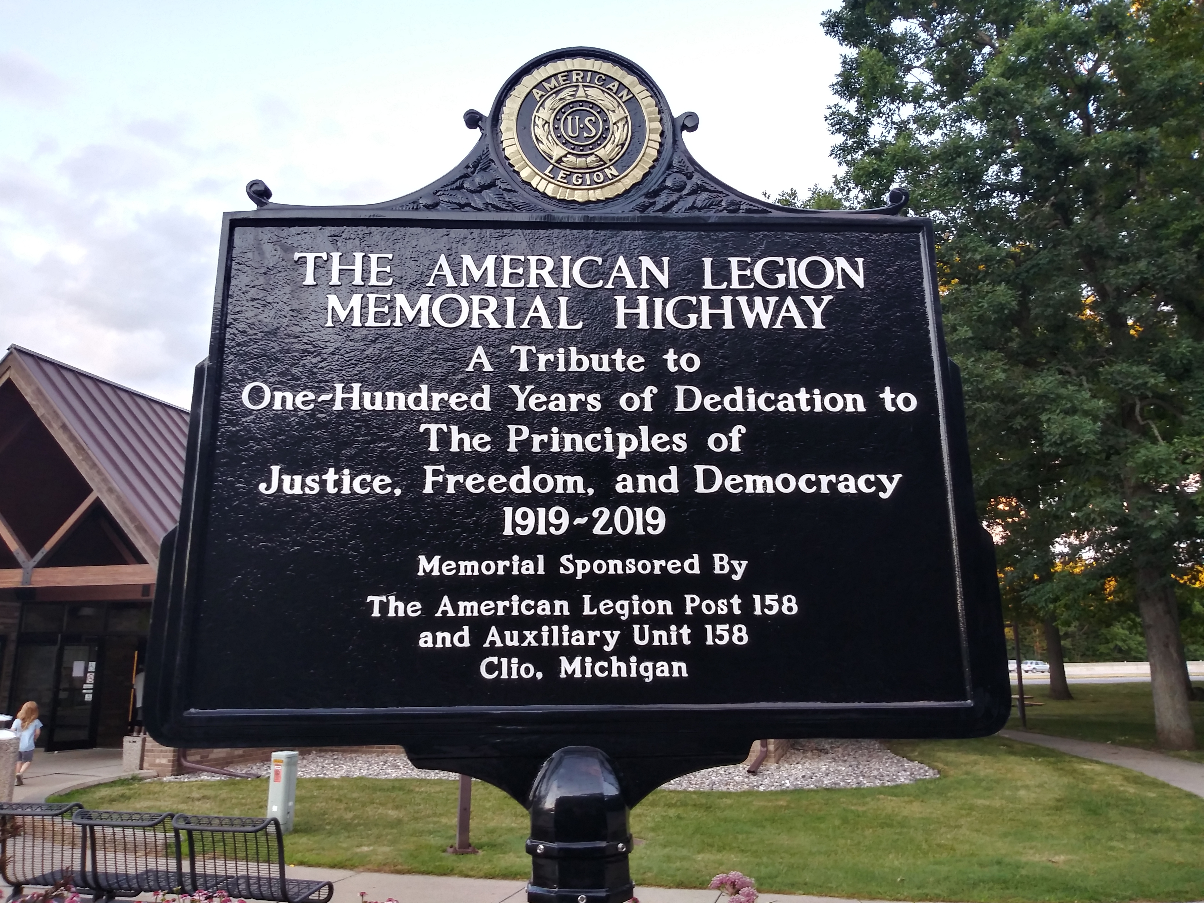 The American Legion Memorial Highway Marker