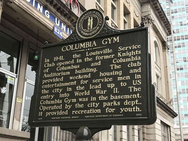 Columbia Gym Marker (Side A) image. Click for full size.