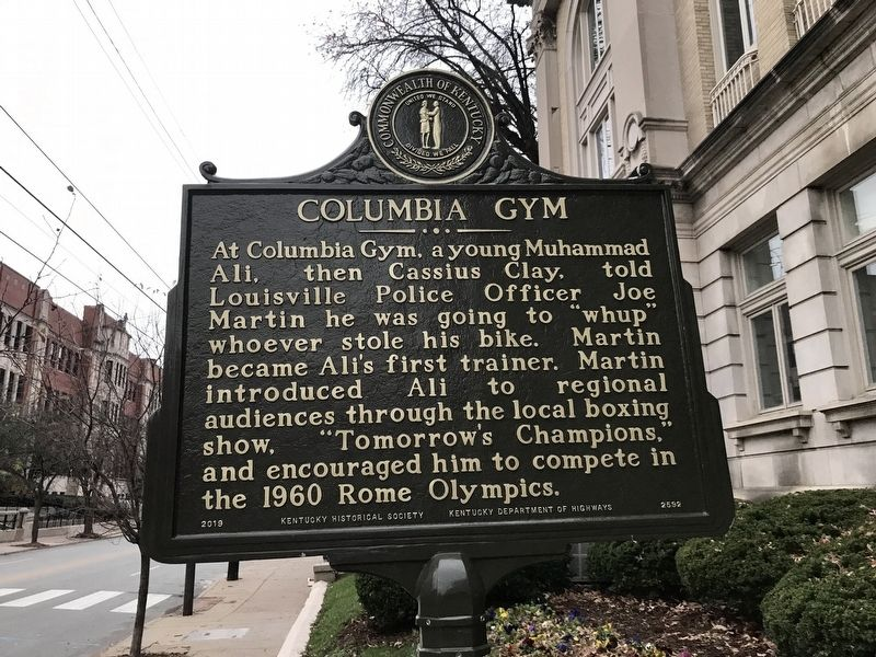 Columbia Gym Marker (Side B) image. Click for full size.