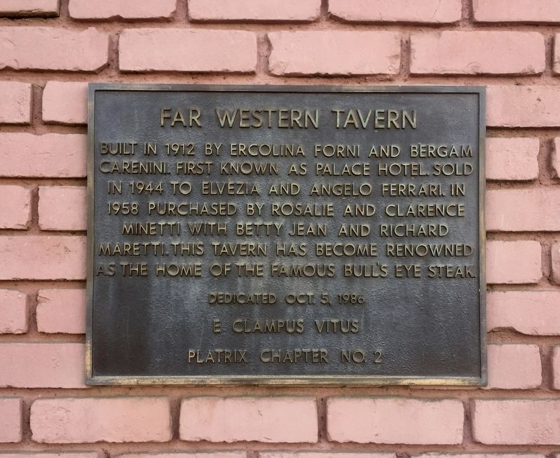 Far Western Tavern Marker image. Click for full size.