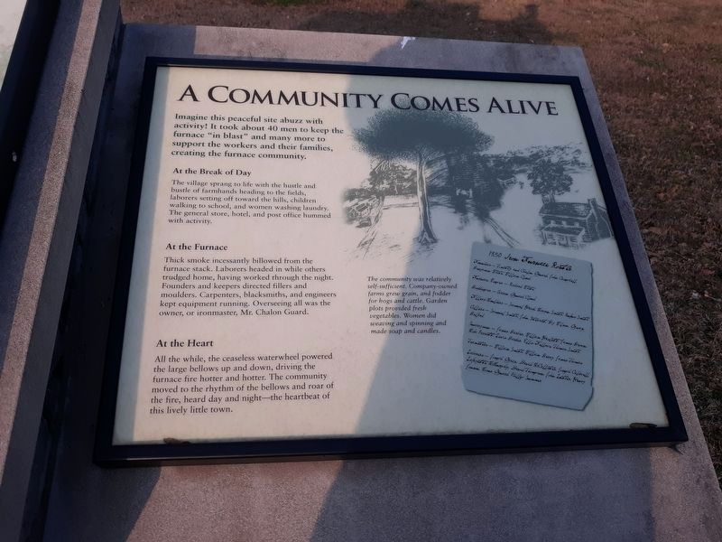 A Community Comes Alive Marker image. Click for full size.