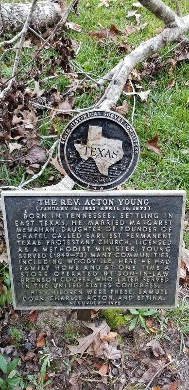 The Rev. Acton Young Marker image. Click for full size.