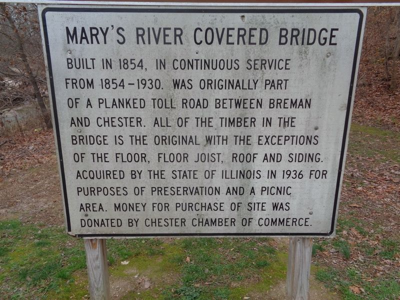 Mary's River Covered Bridge Marker image. Click for full size.