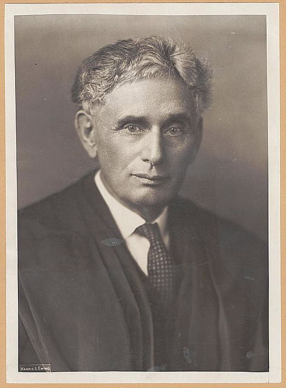 Louis D. Brandeis (1856-1941) image. Click for full size.