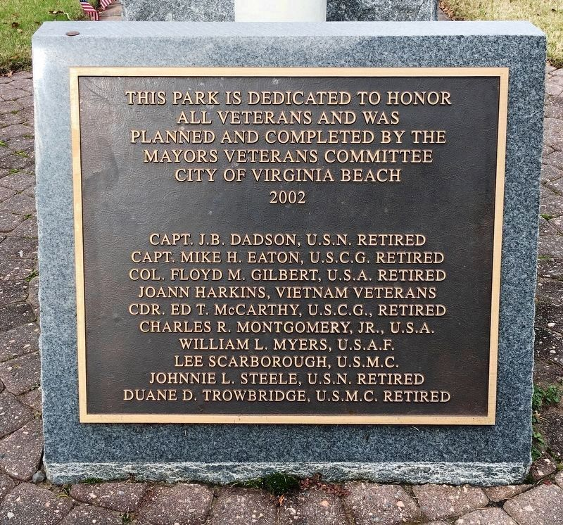 Veterans Memorial Dedication Plaque image. Click for full size.