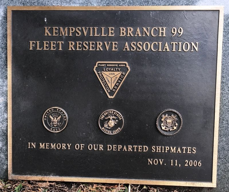 In Memory of Our Departed Shipmates Marker image. Click for full size.
