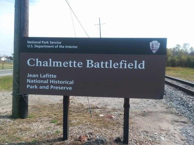 Chalmette Battlefield And National Cemetery Marker image. Click for full size.