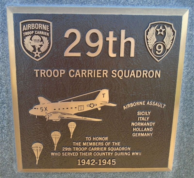 29th Troop Carrier Squadron Marker image. Click for full size.