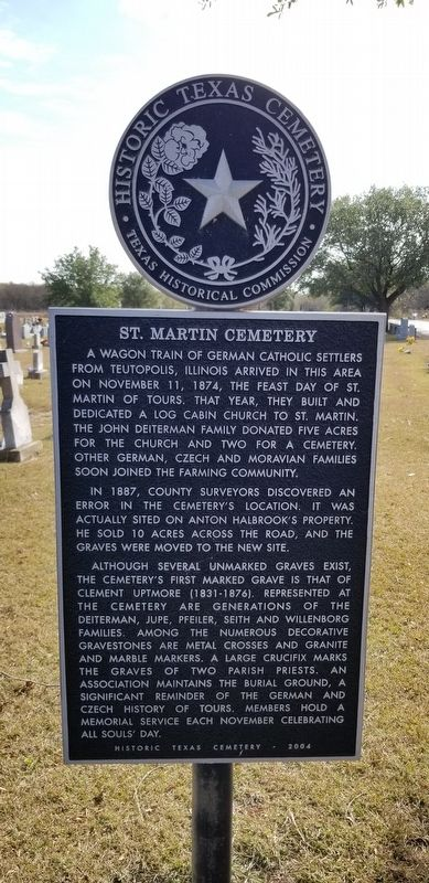 St. Martin Cemetery Marker image. Click for full size.