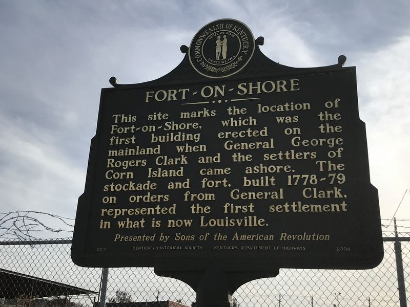 Fort-on-Shore Marker (Side A) image. Click for full size.