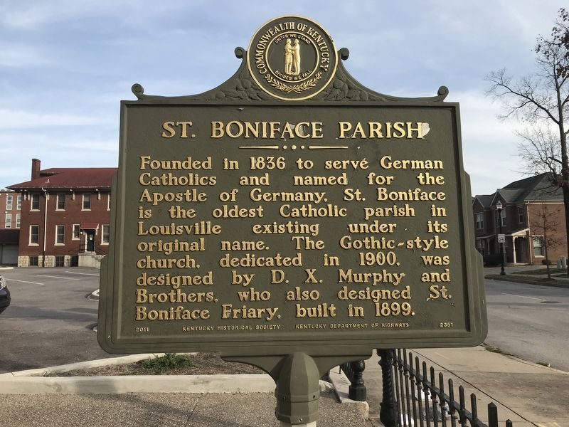 St. Boniface Parish Marker (Side A) image. Click for full size.