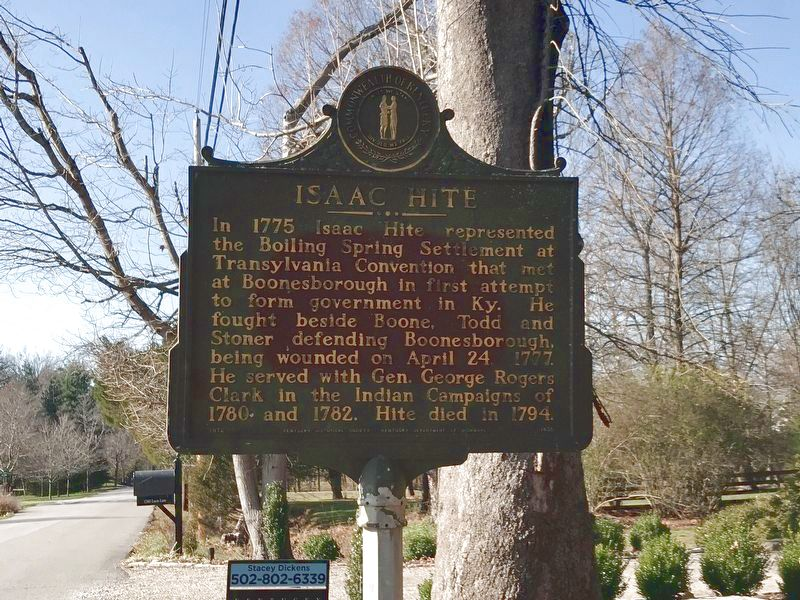 Isaac Hite Marker image. Click for full size.