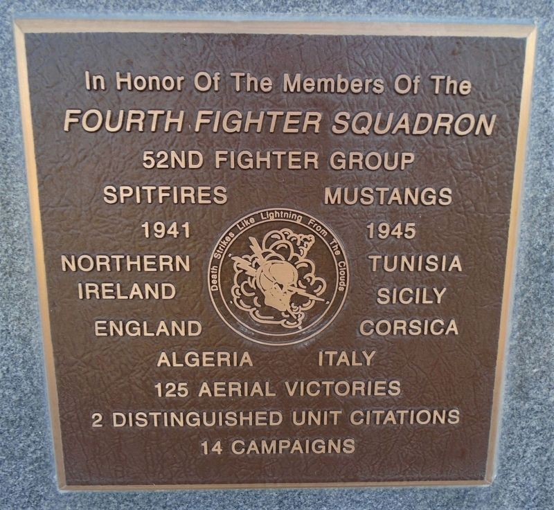 <i>Fourth Fighter Squadron</i> Marker image. Click for full size.