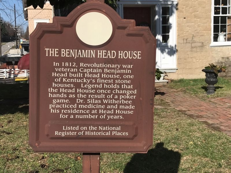 The Benjamin Head House Marker image. Click for full size.