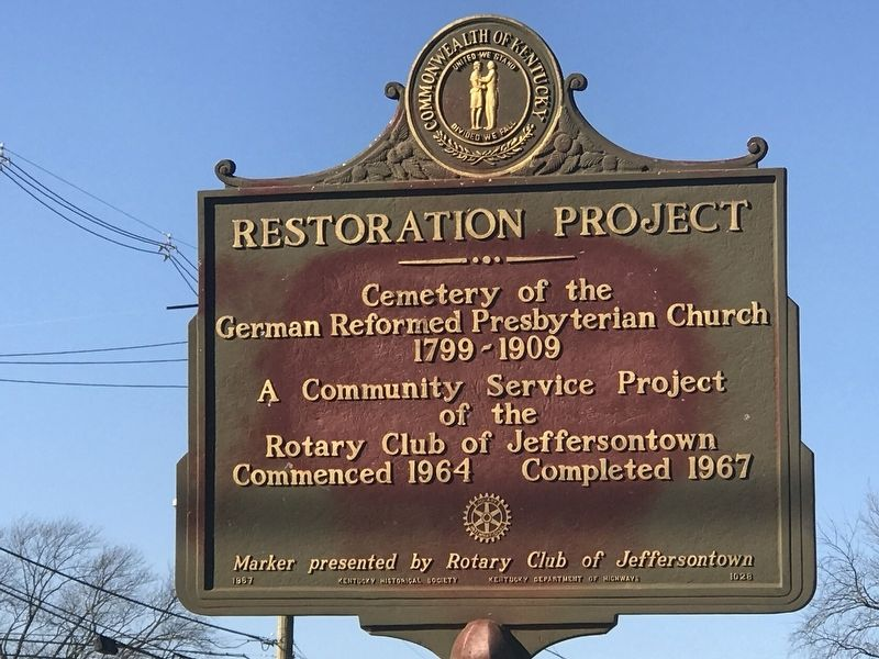 Restoration Project Marker image. Click for full size.