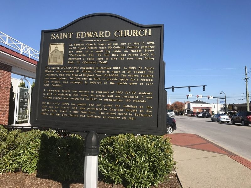 Saint Edward Church Marker image. Click for full size.