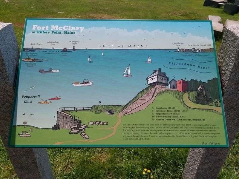 Fort McClary Marker image. Click for full size.