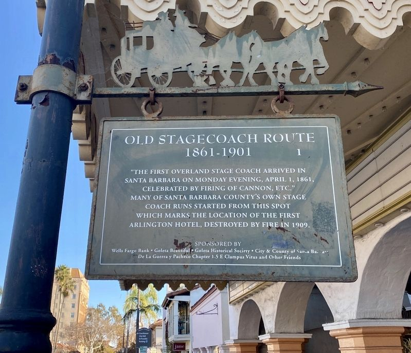 Old Stagecoach Route Marker image. Click for full size.