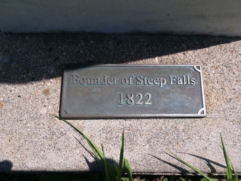 Founder of Steep Falls Marker image. Click for full size.