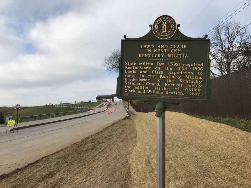Lewis and Clark in Kentucky — Kentucky Militia Marker image. Click for full size.