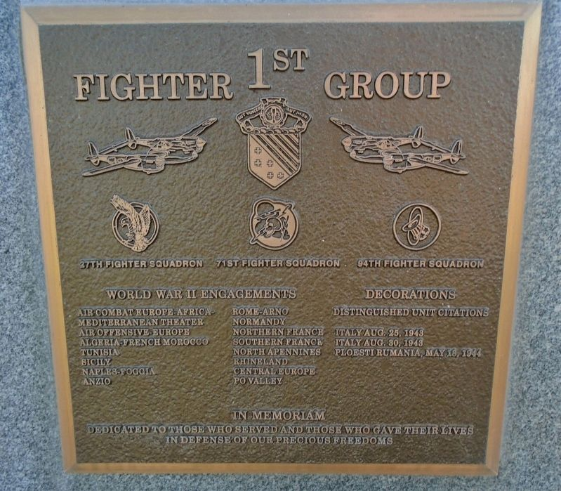 1<sup>st</sup> Fighter Group Marker image. Click for full size.