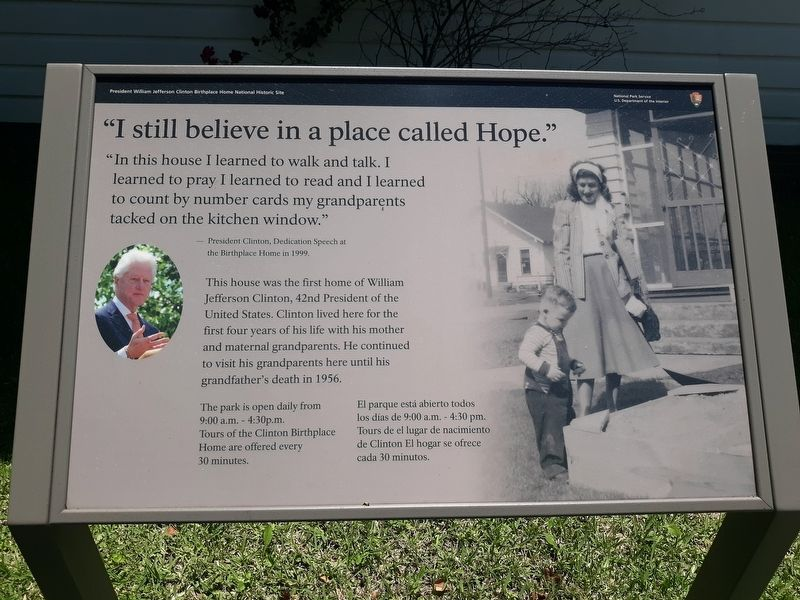 """I Still Believe In A Place Called Hope"" Marker image. Click for full size."