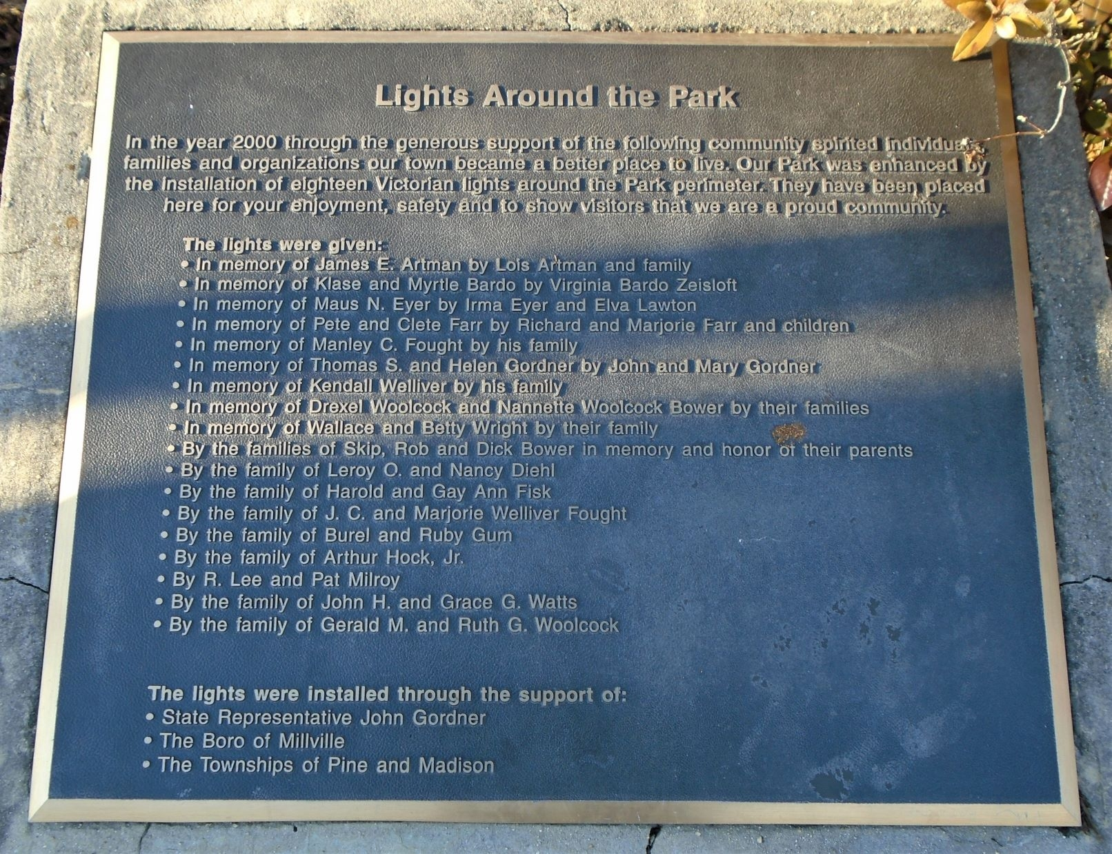 Lights Around the Park Marker