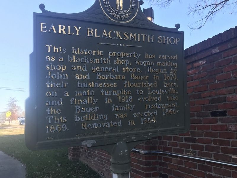 Early Blacksmith Shop Marker image. Click for full size.