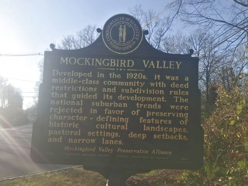 Mockingbird Valley Marker (Side A) image. Click for full size.