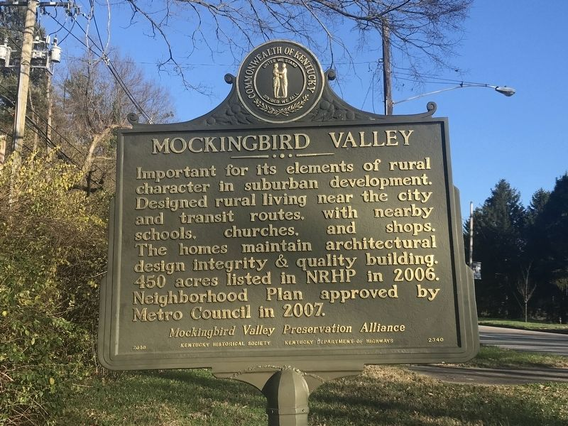 Mockingbird Valley Marker (Side B) image. Click for full size.