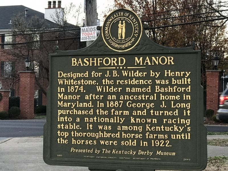 Bashford Manor Marker (Side A) image. Click for full size.