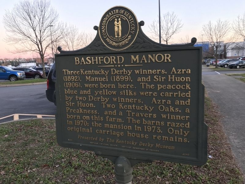 Bashford Manor Marker (Side B) image. Click for full size.