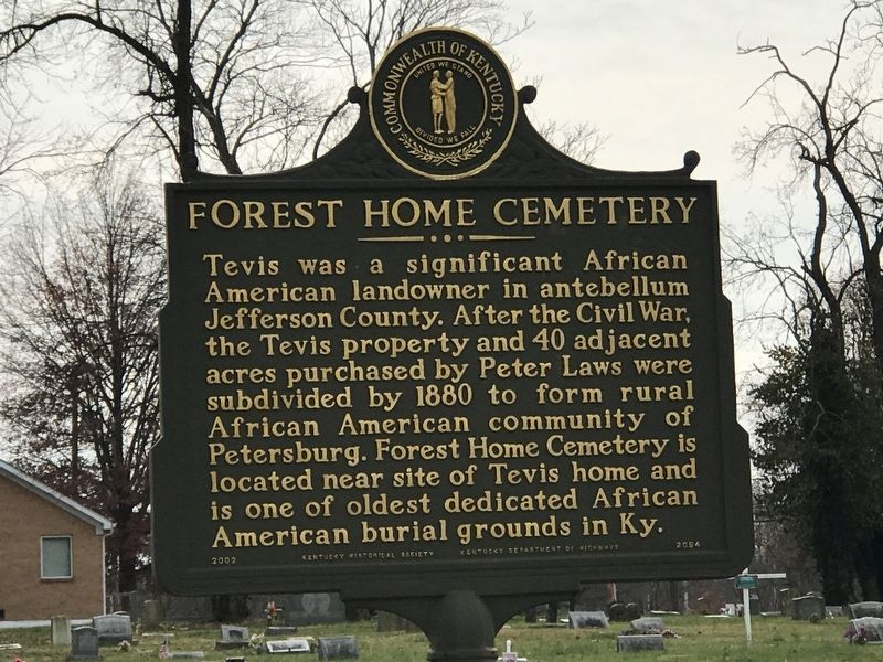 Forest Home Cemetery Marker (Side B) image. Click for full size.