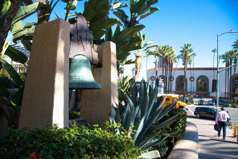 Bell of Dolores and Historical Marker image. Click for full size.