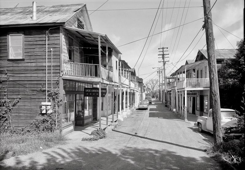 <i>Looking North Along Main Street From Levee Road...</i> image. Click for full size.