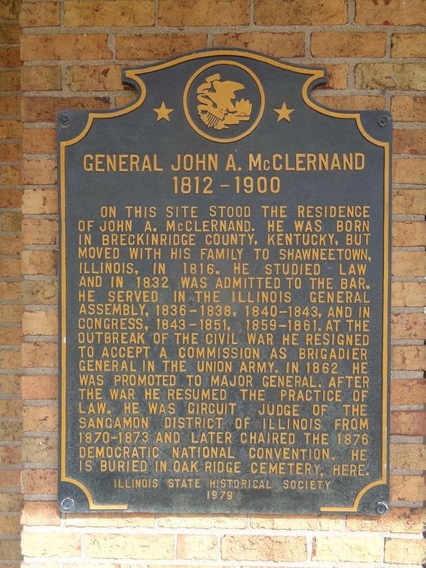 General John A. McClernand Marker image. Click for full size.
