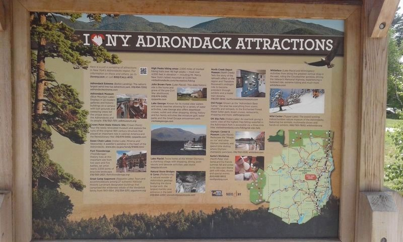 I ❤ NY Adirondack Attractions side of the marker image. Click for full size.