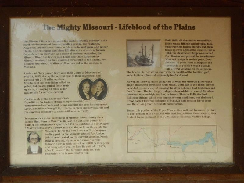 The Mighty Missouri - Lifeblood of the Plains Marker image. Click for full size.