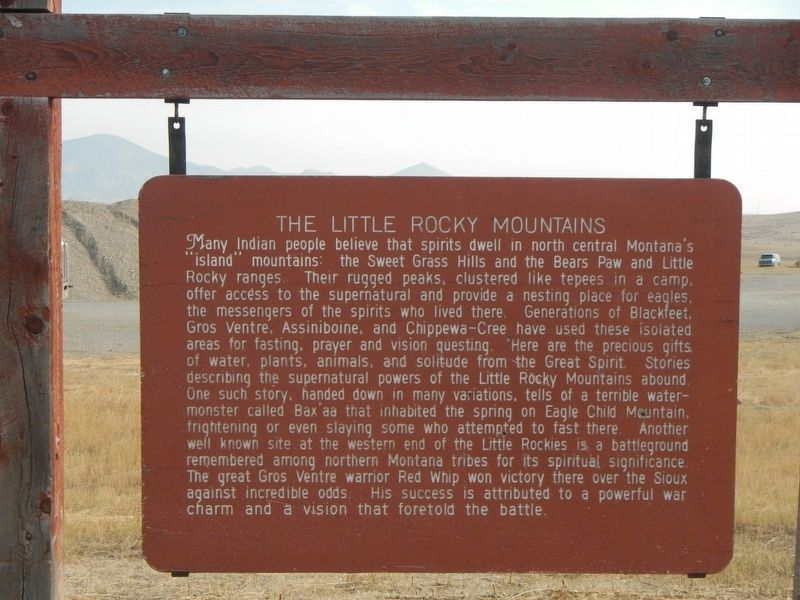 The Little Rocky Mountains Marker image. Click for full size.