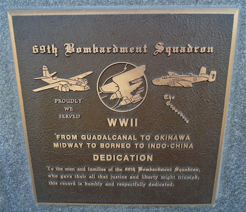 69th Bombardment Squadron Marker image. Click for full size.