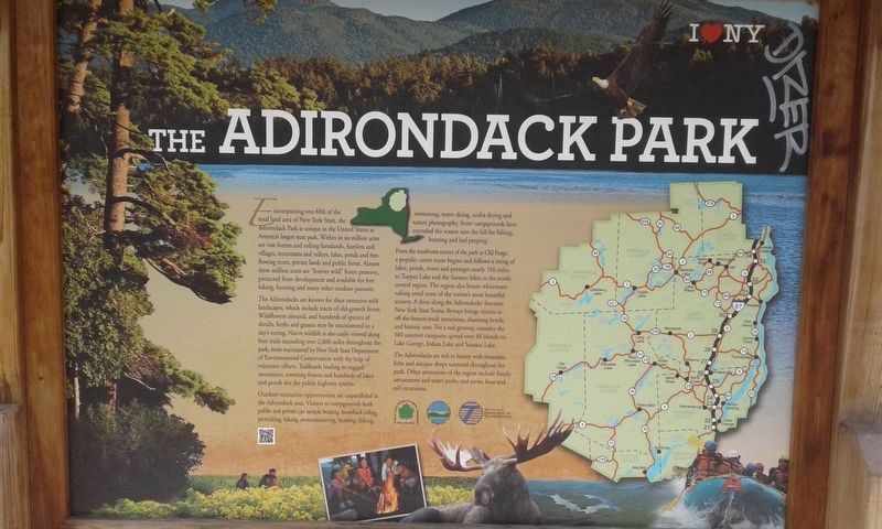 The Adirondack Park side of the marker image. Click for full size.