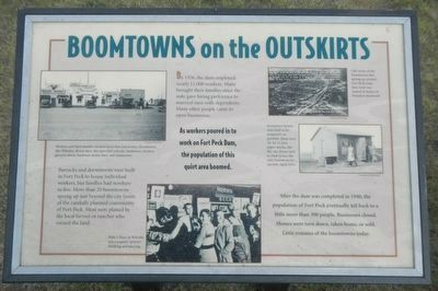 Boomtowns on the Outskirts Marker image. Click for full size.